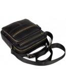 Фотография Чёрная удобная мужская кожаная сумка fr0601