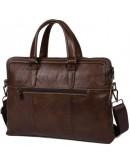 Фотография Стильный коричневый мужской портфель fr1060