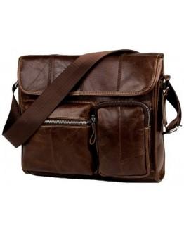 Коричневая повседневная вместительная сумка на плечо fr1400