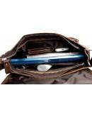 Фотография Коричневая повседневная вместительная сумка на плечо fr1400
