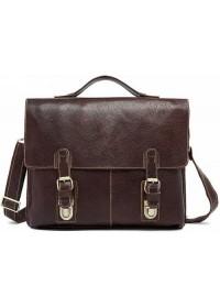 Кожаный мужской коричневый добротный портфель fr1700