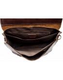 Фотография Кожаный мужской коричневый добротный портфель fr1700
