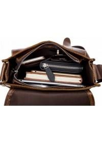 Коричневая сумка для мужчин на плечо fr900