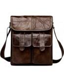 Фотография Коричневая сумка для мужчин на плечо fr900