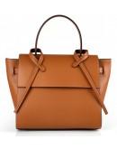 Фотография Женская коричневая кожаная сумка Grays FS-BB-3401C
