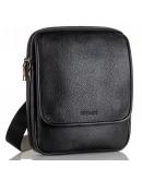 Фотография Мужская черная кожаная сумка на плечо FZ-012-3