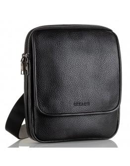 Мужская черная кожаная сумка на плечо FZ-012-3