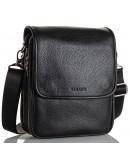 Фотография Кожаная мужская черная сумка на плечо Zagora FZ-015-3