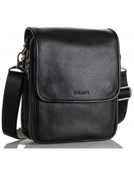 Кожаная мужская черная сумка на плечо FZ-015-3