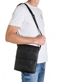 Кожаная мужская вместительная сумка на плечо FZ-037-3