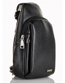 Черный кожаный мужской небольшой удобный слинг FZ-911-1