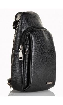 Черный кожаный мужской слинг удобный небольшой FZ-911-1
