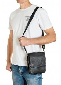 Кожаная мужская сумка на плечо небольшая FZ-013-2