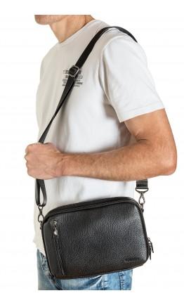 Мужская удобная кожаная сумка на плечо - барсетка FZ-31