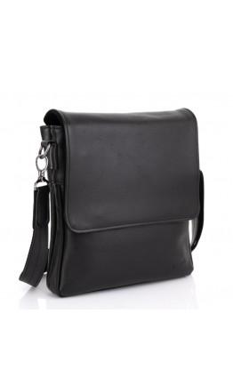 Мужская черная кожаная сумка на 2 отделения Tarwa GA-0022-4lx