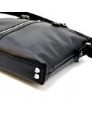Фотография Сумка кожаная черная для документов и ноутбука Tarwa GA-0041-4lx