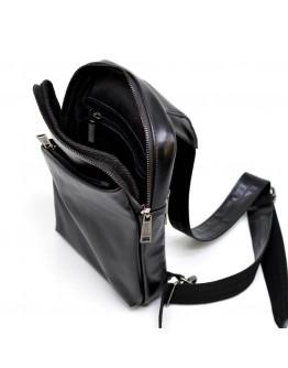 Черный мужской кожаный удобный слинг Tarwa GA-0204-3md