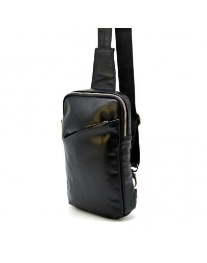Фотография Черный слинг из гладкой натуральной кожи Tarwa GA-0204-4lx