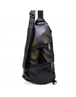 Мужской кожаный черный слинг Tarwa GA-0705-3md