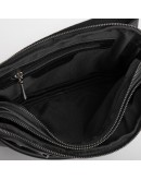 Фотография Черная сумка на пояс - бананка из кожи флотар Tarwa GA-0741-3md