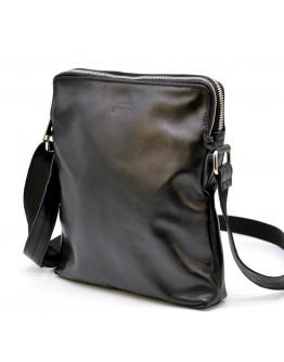 Черная кожаная сумка через плечо Tarwa GA-1048-4lx