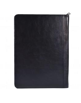 Кожаная мужская черная папка органайзер портфолио на молнии для документов А4+ TARWA GA-1295-4lx