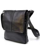 Фотография Мужская кожаная сумка на плечо черная Tarwa GA-1301-3md