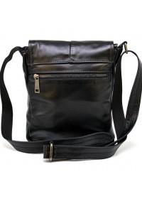 Мужская кожаная сумка на плечо черная Tarwa GA-1301-3md