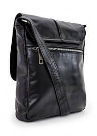 Черная кожаная мужская сумка на плечо Tarwa GA-1301-4lx