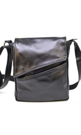 Мужская черная кожаная сумка на плечо Tarwa GA-1302-3md