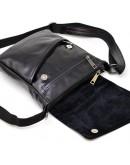 Фотография Мужская черная кожаная сумка на плечо Tarwa GA-1302-3md