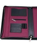 Фотография Черная папка с ручкой для документов А4 с органайзерами TARWA GA-1404-4lx