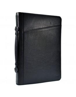 Черная папка с ручкой для документов А4 с органайзерами TARWA GA-1404-4lx