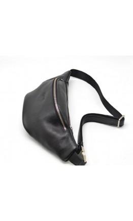 Черная большая мужская сумка на пояс GA-3036-4lx