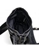 Фотография Кожаная черная мужская вместительная сумка на плечо Tarwa GA-6046-3md