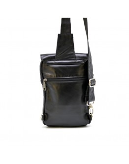 Кожаный черный мужской слинг Tarwa GA-6403-4lx