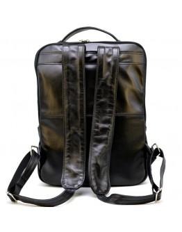 Кожаный мужской черный оригинальный рюкзак Tarwa GA-7284-3md
