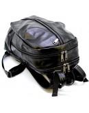 Фотография Мужской кожаный черный вместительный рюкзак Tarwa GA-7340-3md