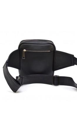 Мужская кожаная черная вместительная сумка на плечо TARWA GA-7777-4lx