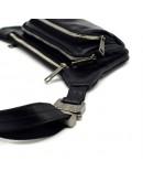Фотография Сумка черная на пояс из натуральной кожи Tarwa GA-8179-4lx
