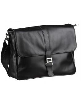 Черная вместительная кожаная сумка на плечо Tarwa GA-1046-3md