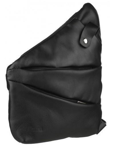 Фотография Черный слинг из натуральной кожи и ткани канвас Tarwa GAc-6402-3md
