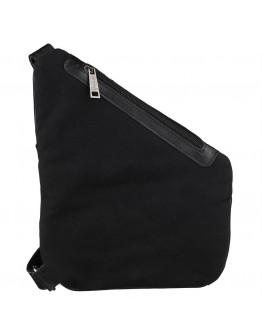 Черный слинг из натуральной кожи и ткани канвас Tarwa GAc-6402-3md