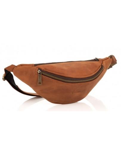 Фотография Винтажная коричневая мужская сумка на пояс Tarwa GB-3035-3md