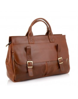 Кожаная коричневая сумка для докуметов Tarwa GB-7107-3md