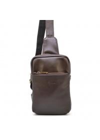 Мужской коричневый кожаный слинг Tarwa GC-0204-3md