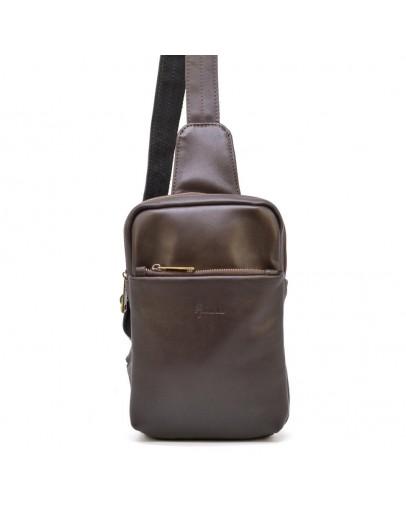 Фотография Мужской коричневый кожаный слинг Tarwa GC-0204-3md