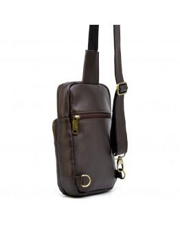 Небольшой мужской кожаный коричневый слинг Tarwa GC-0904-3md