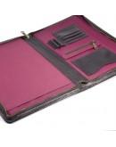 Фотография Кожаная коричневая папка для документов А4 с органайзерами TARWA GC-1294-4lx