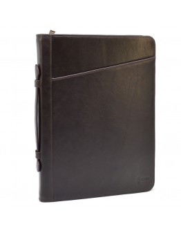 Коричневая папка с ручкой для документов А4 с органайзерами TARWA GC-1404-4lx